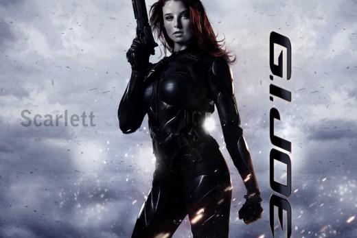Rachel Nichols portrays G.I. Joe's member Scarlett