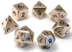 Polyhedral dice come in all sorts of colors and finishes. Find a set you'll enjoy using.
