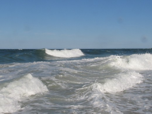 Photo taken with camera in DiCAPac while knee deep in the surf