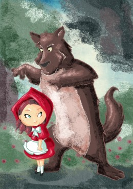 A drawing of The Little Red Riding Hood from TheQueenSerena on DeviantArt.