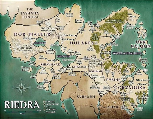 Riedra's Cities, Towns and Regions