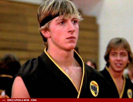 """Sweep The Leg"" William Zabka as Johnny Lawrence of the Cobra Kais."