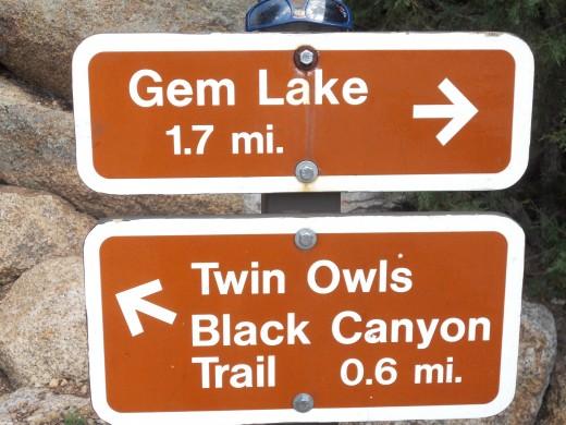 At the Gem Lake Trailhead