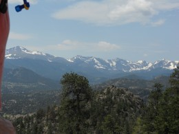 View of Rocky Mountain National Park from the Gem Lake Trail