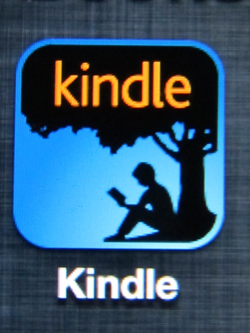 Kindle is a free app and books are purchased from amazon.com
