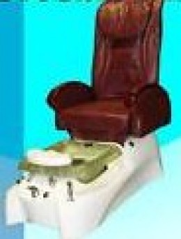 Standard pedicure chair and foot bath