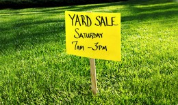 The ubiquitous American yard sale sign