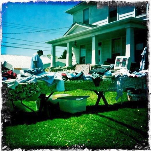 A typical yard sale in America