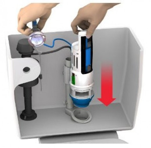 Converting your system to a dual flush one can save a lot of water.