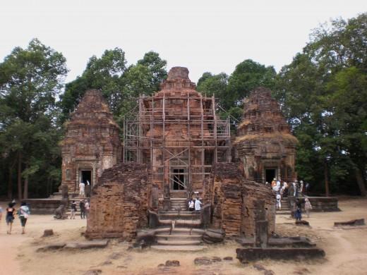 Remains of Preah Ko, Temples of Angkor, Cambodia
