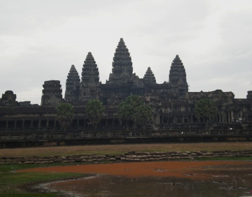 Angkor Wat, Temples of Angkor, Cambodia (central tower rises 55m above the ground)