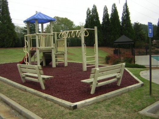 Mulch Backyard Playground : playground mulch is proven to be safer than other types of playground