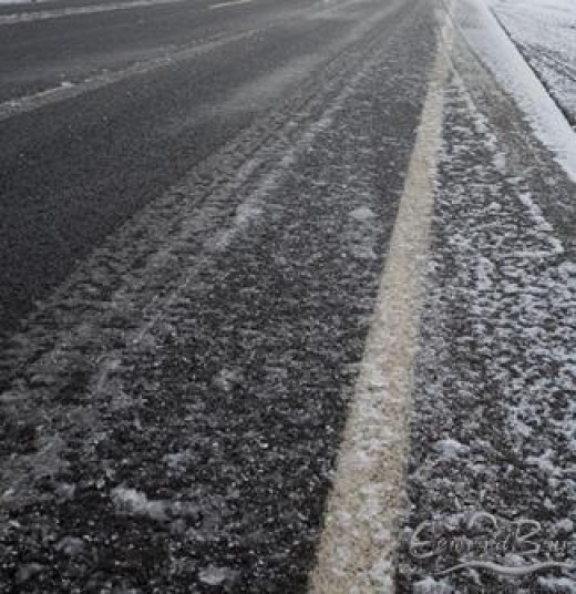 Drive carefully on icy roads.