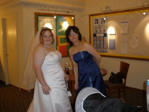 My wedding 5/16/09. Inez was my Maid Of Honor