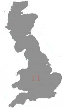 Map location of Birmingham, England