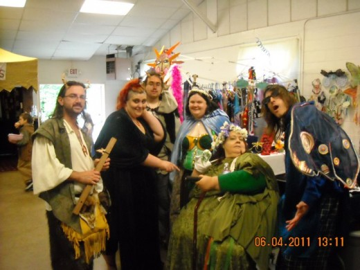 Shawn, Morganna, Daniel, Me, Linda, and David at the 2011 Celtic Midsummer Faerie Festival