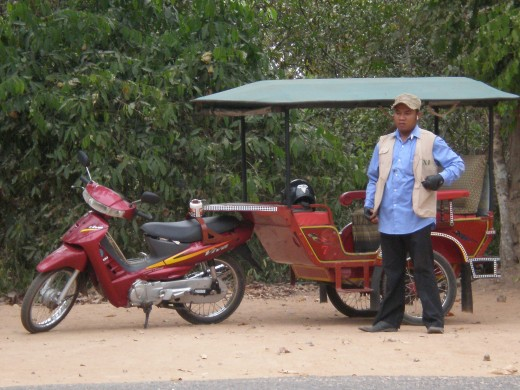 Tuk-Tuk and Cambodian Driver