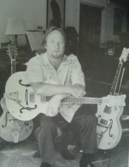 Legendary rocker Stills with Gretsch guitars