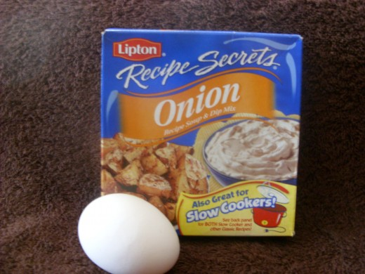 Lipton Onion Soup Mix and an Egg!