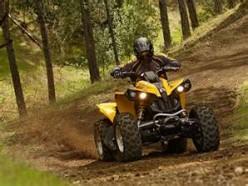 Riding ATV
