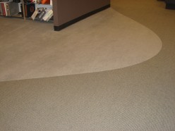 Broadloom curvy design solid with textured compliment
