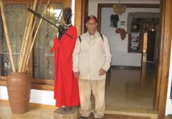 In a five-star Hotel in Moshi