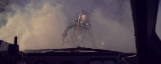 Adam Young appears at the end of the Deer in the Headlights video 'from the year 2015' in his astronaut suit from the Aligator Sky music video.