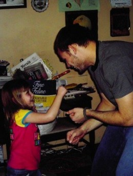 Here are my brother and niece play fighting at Christmas 4 years ago. Scott is one of the few good fathers I know.