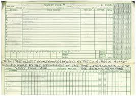 An Early Cricket Score Book
