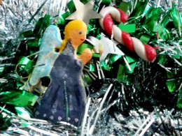 Angel and Candystick ornaments