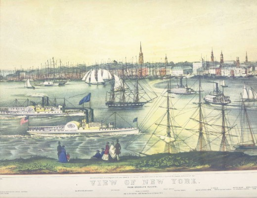 View of New York Print, Donald Art Co. reproduction