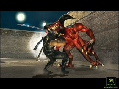Ryu Hayubasa versus Demons in 360's Ninja Gaiden
