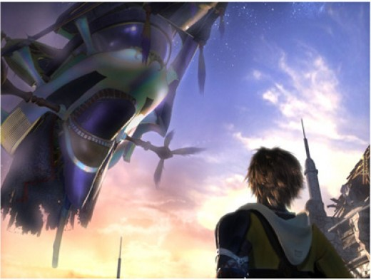 Tidus and Airship From FFX
