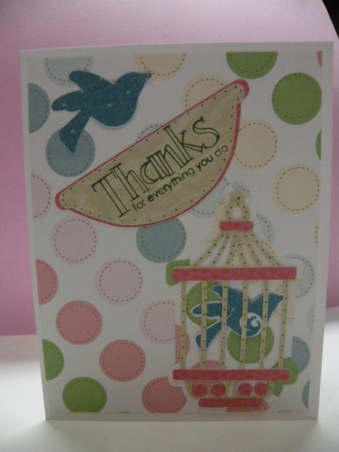 Thanks for Everything Card; easy to make with a Cricut and a Stampin'Up! stamp.