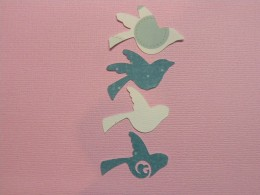 Cardstock cutouts of the Bird