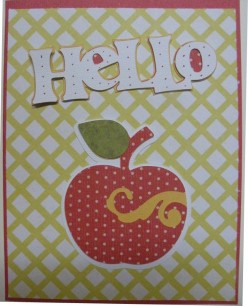 Easy to Make Homemade Card for the teacher: Apple for the Teacher
