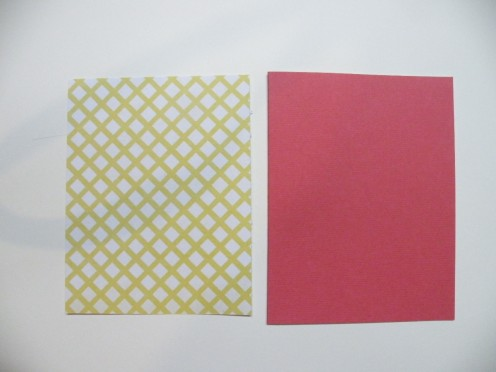 Red Cardstock Base with Printed Cardstock layer