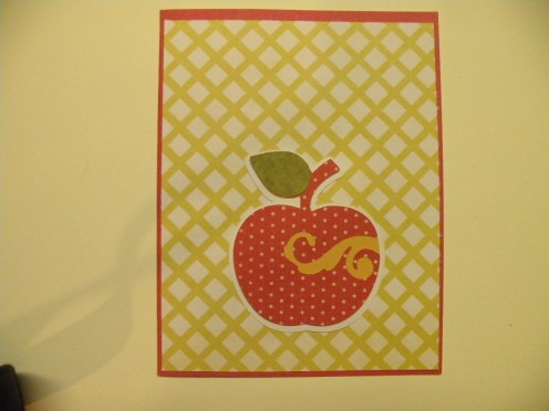 Apple Adhered to card