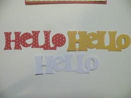 Hello sentiment cutout