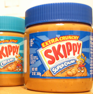 """SKIPPY Peanut Butter, not to be confused with """"Skippy"""" Handelman."""