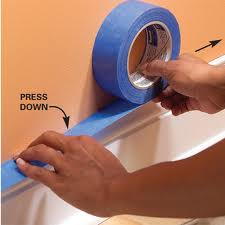 Figure 1. Make sure you press all along the edges to prevent paint seeping through