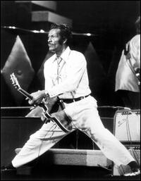 THE GREAT CHUCK BERRY Johnny B. Goode and other golden hits. Where is Chuck today? See what I mean? After a certain amount of fame, the spotlight fades leaving us with black and white memories of this once-great rocker.