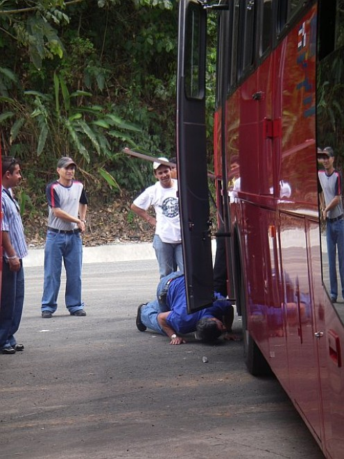 A broken down bus on the way to Corcovado.  It added four hours of travel to my day.