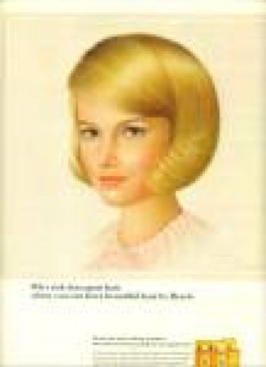 "I love this hairstyle on this ""amateur"" Breck Shampoo model. Let me at this posing in Breck Shampoo ads and talk about Breck sales skyrocketing! They would do that immediately."