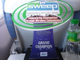 The team's 1st Prize Trophy
