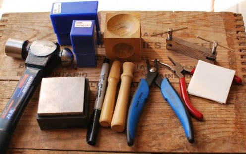 Supplies to Make Hand Stamped Metal Jewelry
