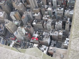 Top of the Empire State Building, Looking down.