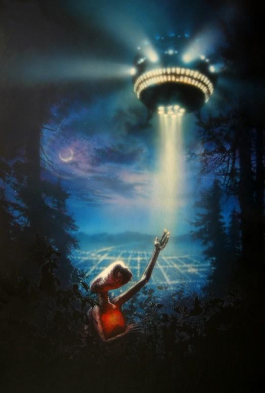 ET the Extraterrestrial (1982) art by Drew Struzan