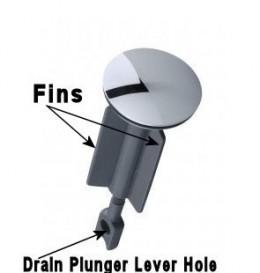 Drain plunger-stopper