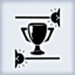Undiscouraged achievement and trophy icon.
